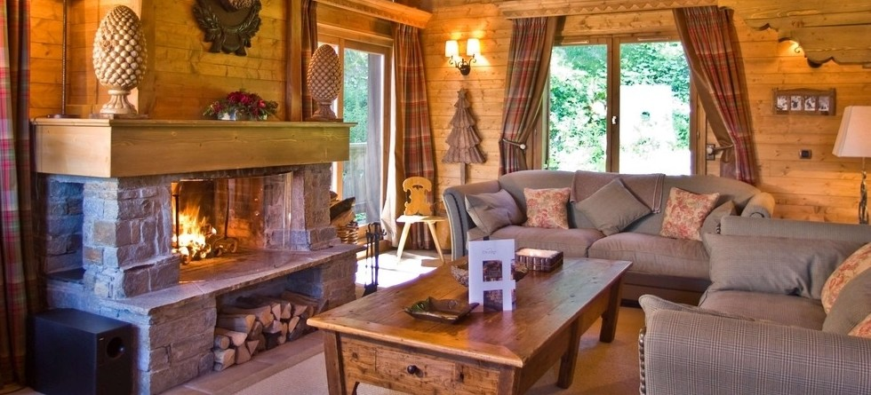 Luxury chalets in Courchevel with most properties having lovely fireplaces